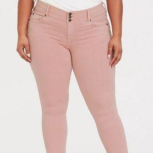 torrid blush pink wash jeggings sz 18xs